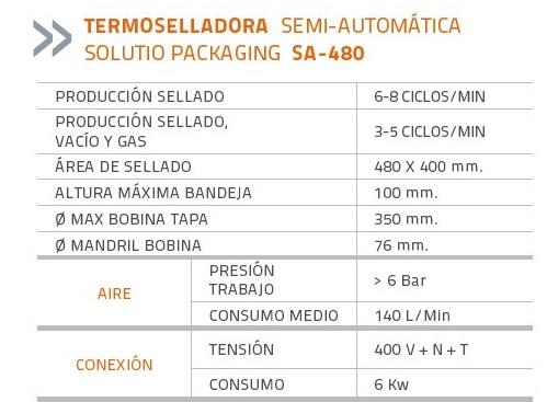 SOLUTIO PACKAGING SA-480