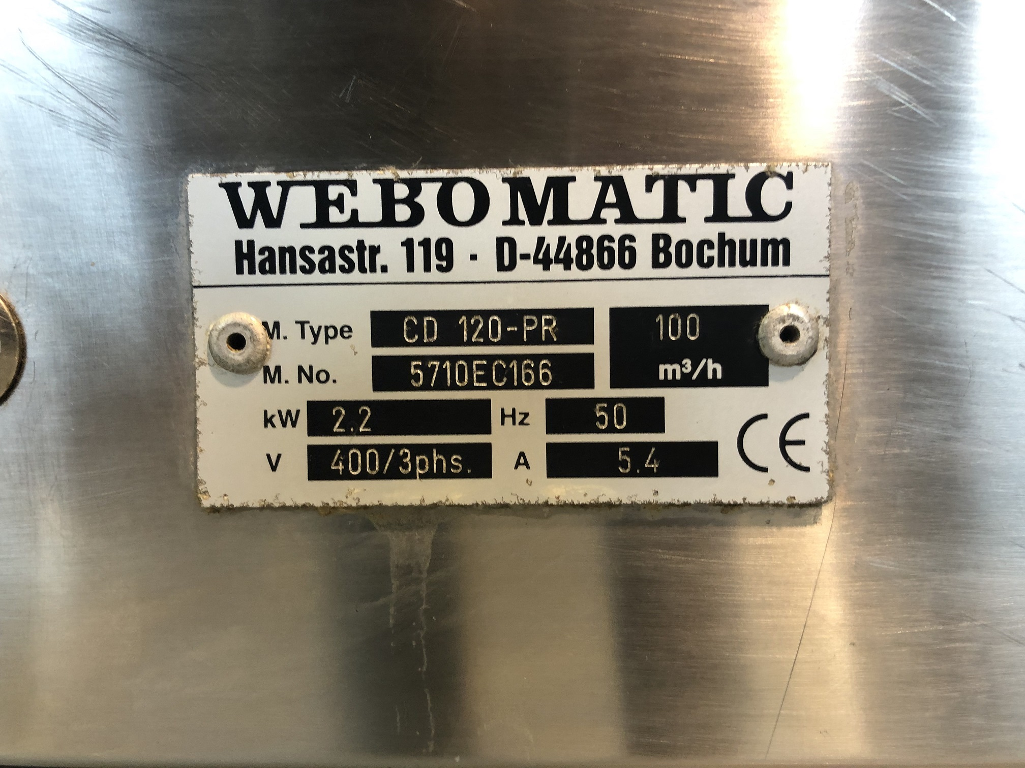 WEBOMATIC  CD120-PR